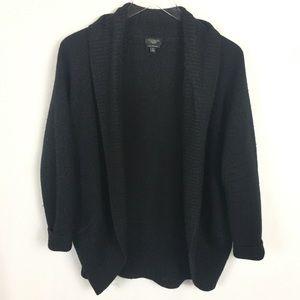 Talbots 1X Pure Merino Wool Black Thick Cardigan
